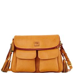 Florentine Zip Flap Foldover, Natural from Dooney & Bourke on shop.CatalogSpree.com, your personal digital mall.