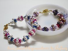 Colorful Pearls and Crystals Bracelet bead_tutorial: [Tutorial] Crystal Bracelet #21