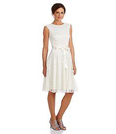 Tahari by ASL Metallic Lace FitandFlare Dress #Dillards $148