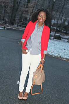 Winter work #outfit. Valentine's Day outfit for women.