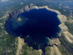 Crater Lake National Park, Oregon  Google Image Result for http://www.fitpacking.com/images/CLNP/CraterLakeAerial.jpg