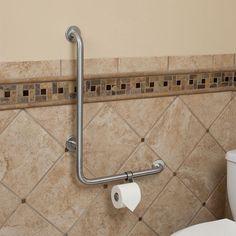 Merveilleux Pickens L Shape Grab Bar With Toilet Paper Holder