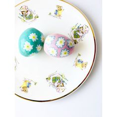 """Collectible Children's Plate English Bone China """"Blue Waters"""" Vintage... (€38) ❤ liked on Polyvore featuring jarmfarm and english bone china"""
