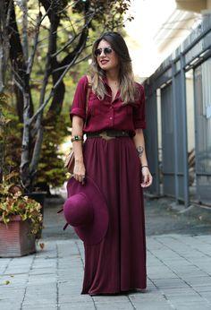 look do dia: burgundy love! - carolburgo.com