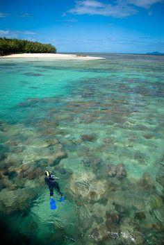 Snorkeling at Green Island, Queensland, Australia