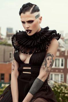 Victorian Ruff Collar costume