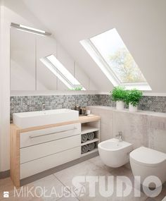 Guide to a Feng Shui Bathroom Vintage Bathrooms, Feng Shui Bathroom, Fixer Upper Bathroom, Sleek Bathroom, Attic Bathroom, Sleek Bathroom Design, Bathroom Interior, Sloped Ceiling Bathroom, Bathroom
