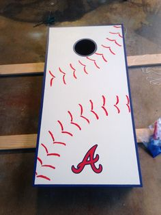 Braves Cornhole. Perfect off-season project!