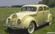1935 DeSoto Soft Yellow & Beige Airflow Sedan
