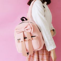 Cheap schoolbag backpack, Buy Quality backpack fashion directly from China fashion backpack Suppliers: Japanese Korean version new Candy colors bow pink red black printing Unisex fashion Leisure College winds schoolbag Backpacks School Bags For Girls, Girls Bags, Cute Backpacks, Girl Backpacks, Totoro Backpack, Fashion Brenda, Girl Online, Canvas Backpack, Cute Bags