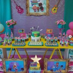 Fiesta Tematica Mini Beat Power Rockers Rocket Birthday Parties, Baby Beat, Rocket Power, Baby Rocker, Jamel, Holiday Calendar, Music Party, Ideas Para Fiestas, Rockers