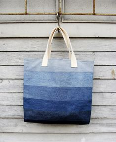Denim Tote Bag 2  upcycled vegan bag jeans bag by Nudakillers