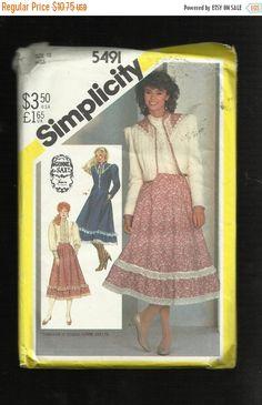 Summer SALE Vintage 1982 Simplicity 5491 by ThimbledFingerTips