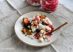 Eton mess featuring Gourmet Tart Co raspberry meringues Raspberry Meringue, Eton Mess, Tart, Oatmeal, Breakfast, Photography, Food, Gourmet, Strawberry Meringue