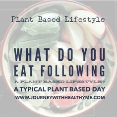 What Do You Eat Following a Plant Based Lifestyle? – Journey With Healthy Me