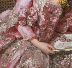 detailsofpaintings:Alexander Roslin, The Artist Marie-Suzanne Giroust (detail)1770