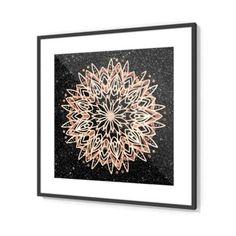 Metallic Mandala Framed Print by Bee-Bee Deigner (beebeedeigner) from Black Marble Background, Bee Bee, Framed Prints, Canvas Prints, Wall Art For Sale, Handmade Frames, Original Artwork, Cool Art, Mandala