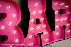 vintage carnival marquee style Bar sign