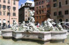Fontana di Nettuno (fountain of Neptune, Piazza Navona - Rome