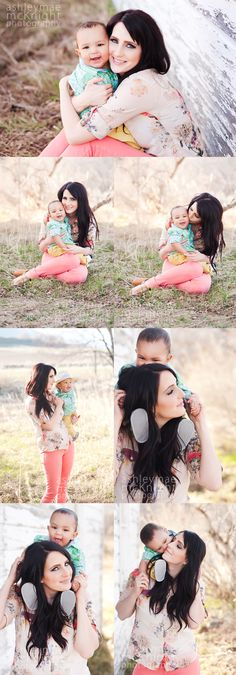7 Month Old Boy Photography. Beautiful Mommy and Son poses. ashleymaephoto.com