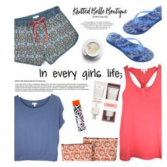 Day routine by helenevlacho on Polyvore featuring polyvore fashion style Havaianas rockflowerpaper FarmHouse Fresh clothing knittedbelleboutique knittedbelle
