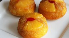 Pineapple Upside-Down Cupcakes .turn the sweet and classic taste of a pineapple upside-down cake into a cute cupcake! Learn to make this recipe with our how-to article. Cupcake Recipes, Cupcake Cakes, Dessert Recipes, Dessert Tray, Mini Cakes, Cup Cakes, Fruit Cakes, Baby Cakes, Bundt Cakes