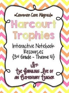 3rd Grade Harcourt Trophies Reading Stories Aligned To Common Core