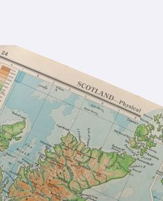 1949  Map of Scotland   physical map   by PeonyandThistlePaper, £5.00