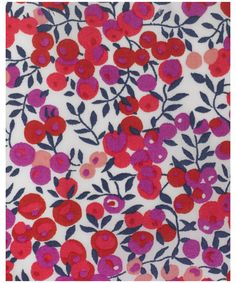 Wiltshire Tana Lawn - This leaf and berry pattern was designed for Liberty in 1933. Like Betsy, it was created by the designer with the initials DS. It was redesigned by Tana in 1968. Wiltshire has been on Classic Tana since 1979.