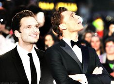 sebastian stan & tom hiddleston