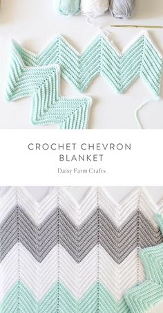Free Pattern - Crochet Chevron Blanket