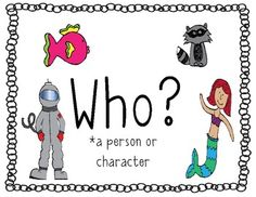 FREEBIE on TPT: Questioning Posters Who, What, Where, When, Why, How