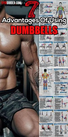 Dumbbells are great tools to have in your strength training. Gym Workout Tips, Workout Regimen, Dumbbell Workout, Kettlebell, Dumbbell Exercises, Fun Workouts, Bike Workouts, Workout Exercises, Fitness Exercises