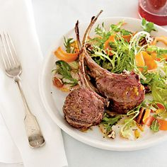 #Easter Main Dish | Rack of Lamb with Carrot Salad