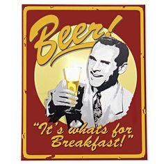 Old Beer Signs - Beer for Breakfast!
