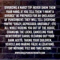 5 tips divorcing narcissist