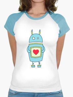 #Cute #Heart Holding Cartoon #Robot t-shirt #shirt #tee #clothing #geek #nerd