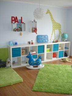 Our playroom ikea stuva storage i love the toy chests on for Kinderspielzimmer einrichten