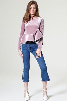 Lena Slit Denim Pants Discover the latest fashion trends online at storets.com #pants #denim #slitpants