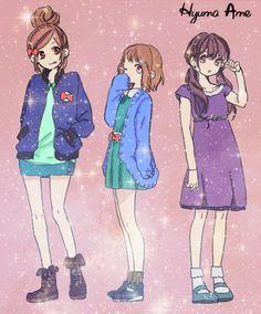 Enomoto Natsuki, Aida Miou y Hayasaka Akari by MatsukiMei
