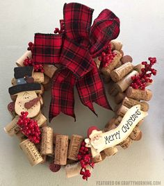 Today I am featuring Wendy Kayl's beautiful wine cork Christmas wreath she made! She was so kind to share her tutorial with us too! You can find her on Facebook at A Door-able Crafts by Wendy. Materials: Foam wreath Corks – I used about 60-80 (You can find bulk wine corks) Toothpicks – you need …