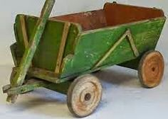 Toy cart, 1800s.