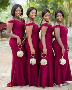 Styles Catalogue: Get the best and latest look❤ of African Fashion Styles in This Channel offers unlimited access to African modern trends such as aso . Off Shoulder Bridesmaid Dress, African Bridesmaid Dresses, African Wedding Attire, Bridesmaid Dresses With Sleeves, Mermaid Bridesmaid Dresses, Lace Bridesmaids, African Print Dresses, African Dress, African Inspired Fashion