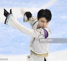 Yuzuru Hanyu of Japan performs in the men's free skate at the Grand Prix figure skating season-opening Rostelecom Cup in Moscow on Oct. 21, 2017. Hanyu finished second behind Nathan Chen of the...