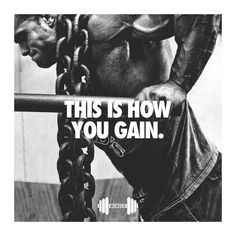 THIS IS HOW YOU GAIN #gymtime #gymmotivation #gymquotes #fitness