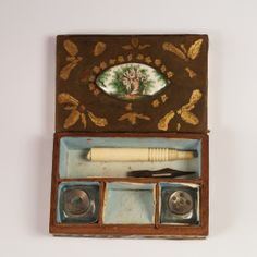RESERVED Rarest Antique 18th C French Miniature Writing Necessairé 1770