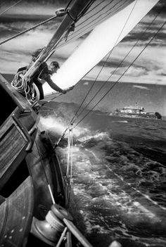 Sailing in the San Francisco Bay by Fred Lyon