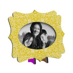 Aimee St Hill Amirah Yellow Tabletop Frame | DENY Designs Home Accessories