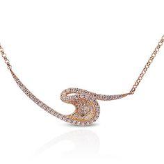 A curve is an elegant line. #feminine #demure #rosegold #kavantsharart #necklace #talaycollection #wavenecklace