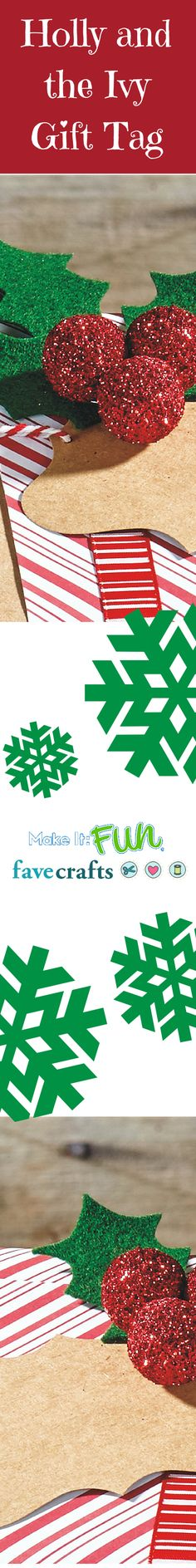 Deck your presents with holly gift tags this year! @makeitfuncrafts #FloraCraftChristmas